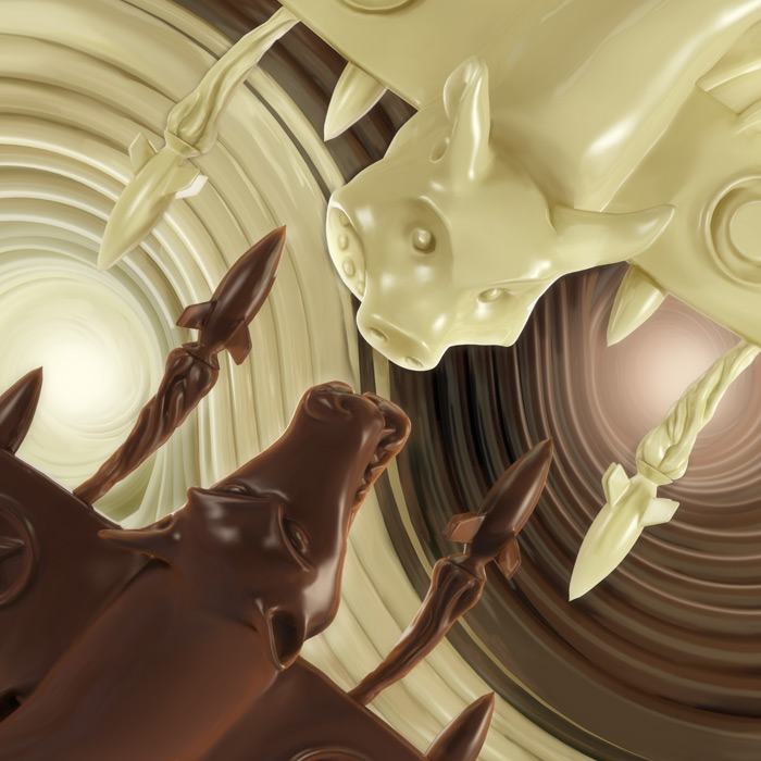 For the Love of Chocolate2, 3D fluid illustration : by Disko Ferdi Dick