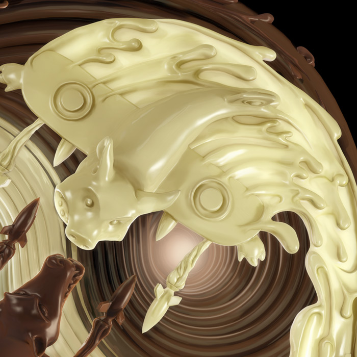 For the Love of Chocolate3, 3D fluid illustration : by Disko Ferdi Dick