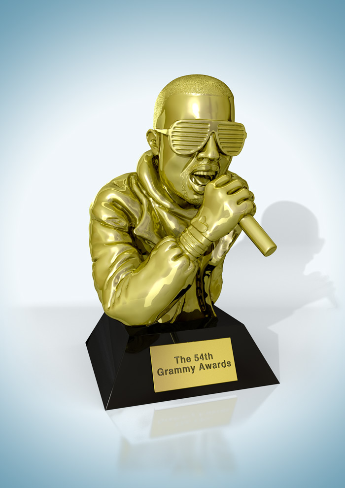 Gold Grammy's Awards Statue 3D illustration : by Disko Ferdi Dick