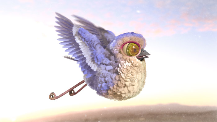 Early Bird Fresh, 3D feather  Animation  : by Disko Ferdi Dick