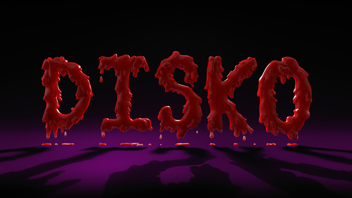 Blood on the dance floor 3D Text Font  : by Disko Ferdi Dick