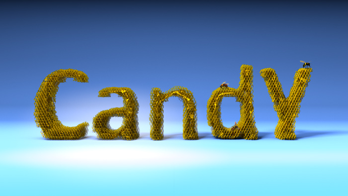 Candy Honey Text 3D Text Font  : by Disko Ferdi Dick
