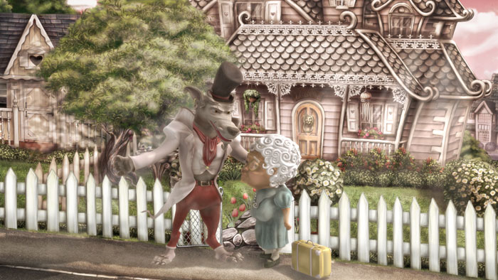 an animated adoptation of the Red riding hood story: by disko ferdi