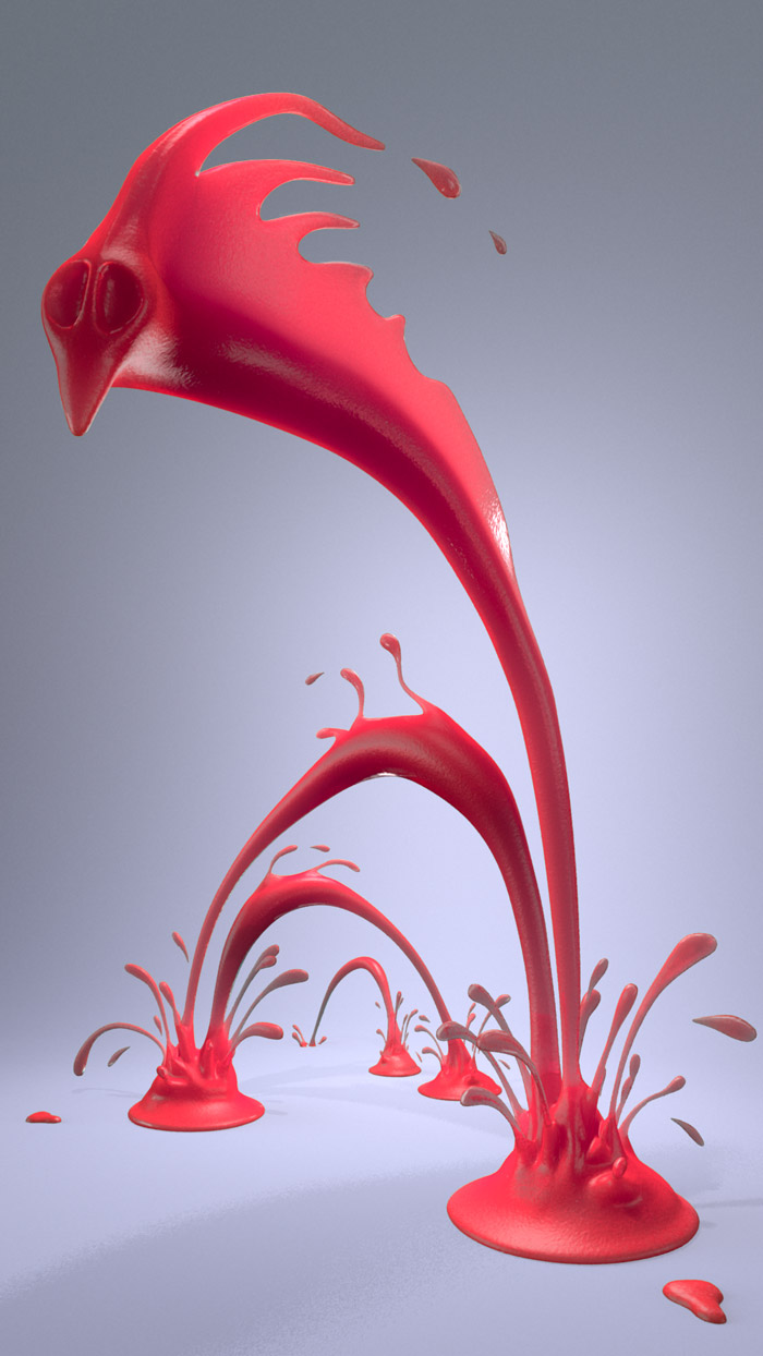 dragon-Eel Frozen juicy Creature 3D Fluid Animation  : by Disko Ferdi Dick