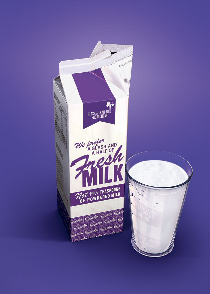 Cadburys milk carton photo-realistic 3D Pack-shot : by disko ferdi