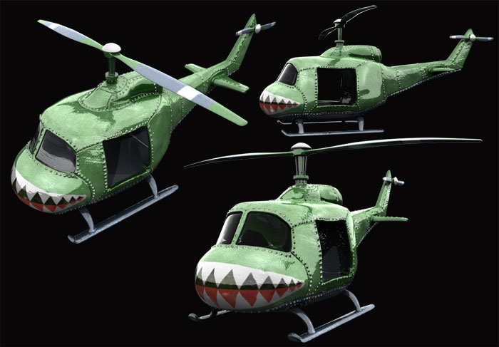 3D model sculpture helicopter : by disko ferdi