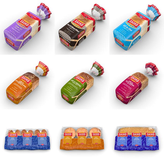 Sasko bread Pack-shot 3D illustration : by Disko Ferdi Dick
