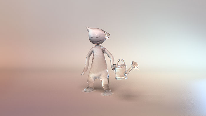 Garden water-boy 3D Fluid Animation  : by Disko Ferdi Dick