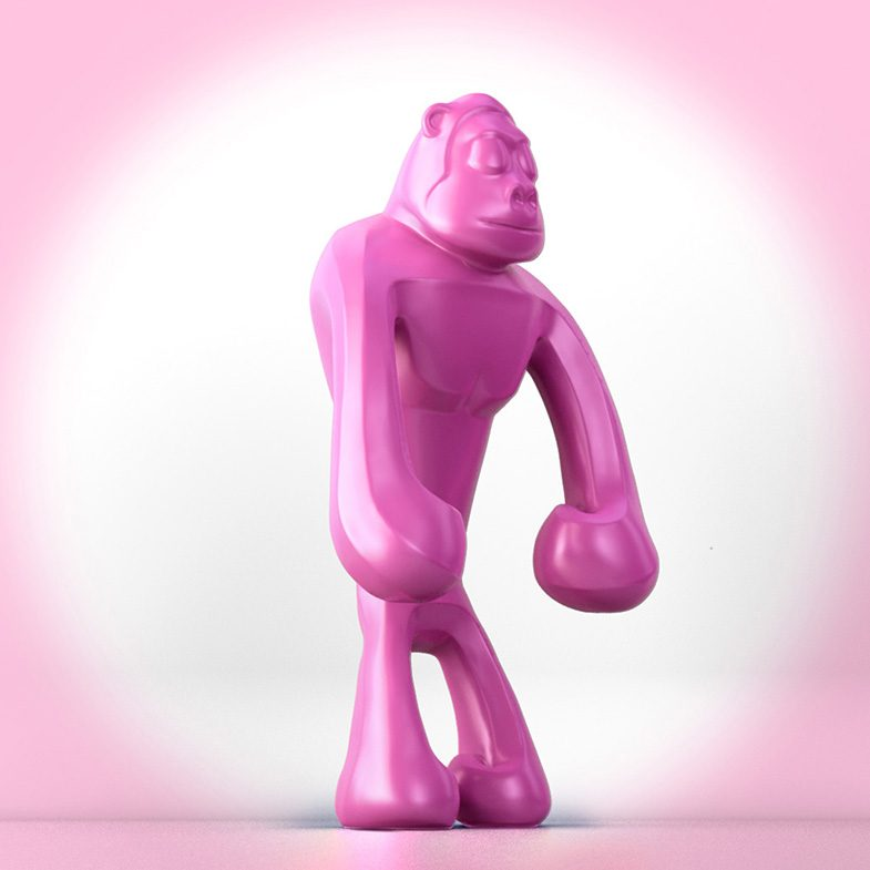 Pink_Aäp_ferdi_b_dick_disko3d_02 designer toy, 3d, illustrator, 3d animation, toy design