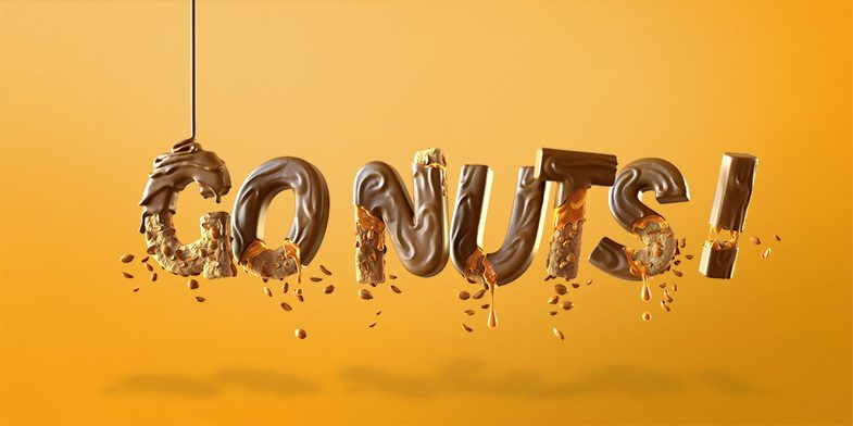 barone, chocolate text, choclate font, 3d typography, 3d font, wireframe, black and white font, 3d illustration, 3d animation,