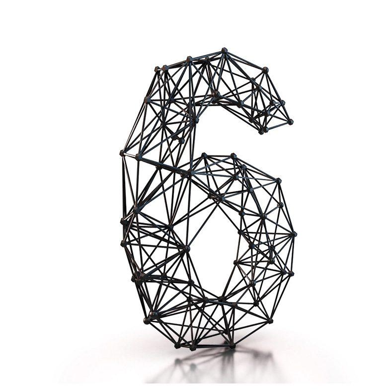 wireframe_black_lines_font_ferdi_b_dick_disko3d_06, 3d typography, 3d font, wireframe, black and white font, 3d illustration, 3d animation