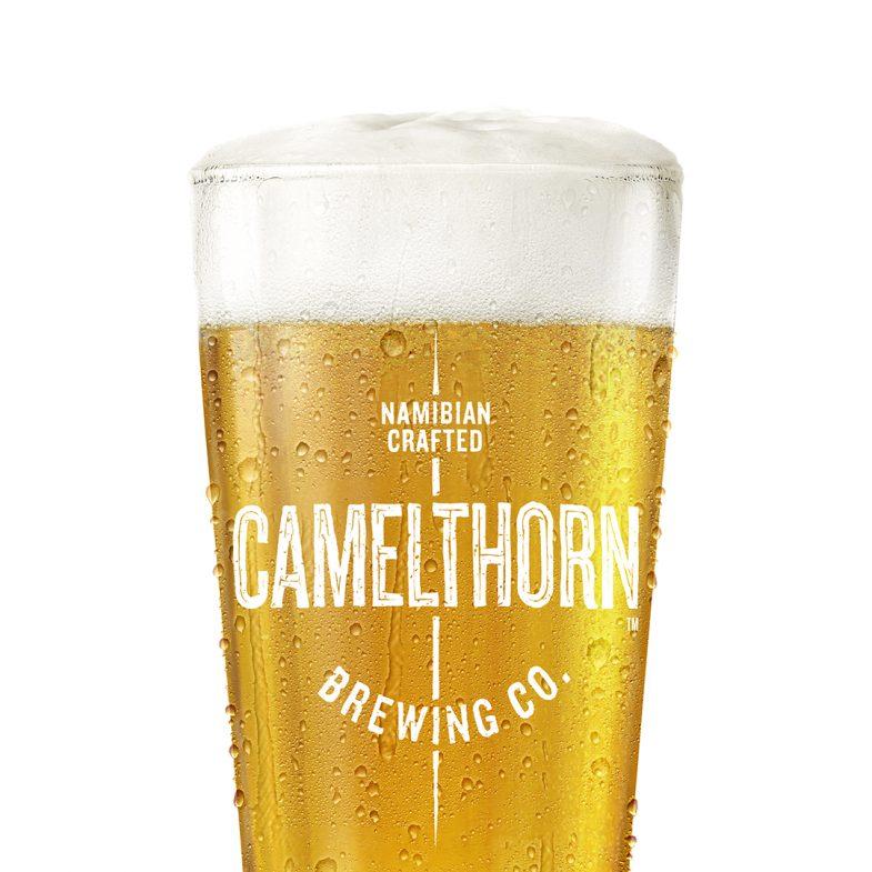 Camelthorn Namibian Craft Beer glass close-up
