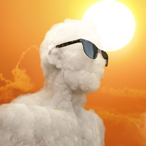 Even clouds need sunglasses on sunny day..